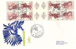 Fdc Venetia: CARPACCIO 1976;quartina No Viagg.; AF_Venezia - 1946-.. République