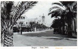 BENGASI - CORSO ITALIA - LIBIA - VIAGGIATA - Guerra 1939-45