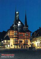 1 AK Germany *  Das Rathaus Von Wernigerode Bei Nacht * - Wernigerode
