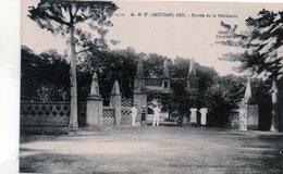 Cpa- A.o.f. (soudan)san - Entrèe De La Residence (sèpia) - Soudan