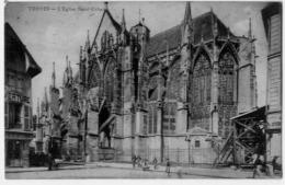 TROYES L'EGLISE ST URBAIN AU DOS CACHET COMMISSAIRE MILITAIRE - Troyes