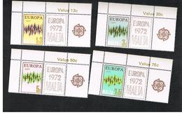 MALTA - 1972  EUROPA (WITH 2 LABELS)     -     MINT** - Europa-CEPT
