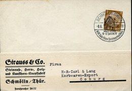 34593 Germany Reich, Special Postmark 1938 Schmolln/thur. 600 Jahrfeier Showing  Madonna And Child - Briefe U. Dokumente