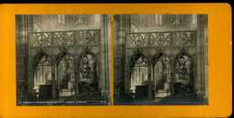 ANCIENNE VUE STÉRÉOSCOPIQUE    CHALONS SUR MARNE JUBE DE NOTRE DAME DELPHINE 1909 - Photos Stéréoscopiques