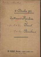 BOURG LA REINE 1927 QUITTANCE DE VENTE THURET À BROUILLART TERRAIN À L HAY LES ROSES 5 PAGES : - Manuscripts