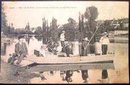 36  LE BLANC  Bords De La CREUSE   Jeunes Pêcheurs  1904 - Le Blanc