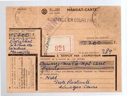 R-Chargé Mandat-carte 1955 Limoges Cours Praitiques (f16) - Autres