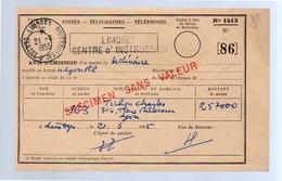 1955 Limioges R-Centre D'Instruction SPECIMEN SAS VALEUR (f17) - Autres