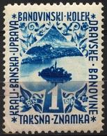1936 Yugoslavia / Slovenia - Dravska Banovina - Revenue Tax Stamp - MNH - 1 Din - Lake BLED / Veldeser See - Slovenia