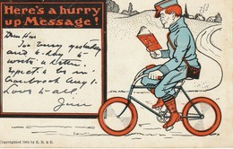 Here's A Hurry Up Message! - Humour