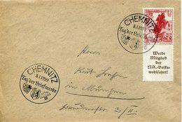 34600 Germany Reich, Special Postmark 1939 Chemnitz Tag Der Briefmarke, Circuled Cover - Allemagne