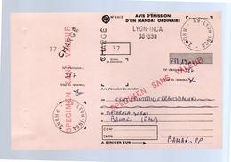 Avis D'Emission D'un Mandat Ordinaire Lyon-Inca  'SPECIMEN SANS VALEUR' (f21) - Autres