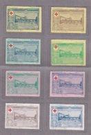 080618 - 10 VIGNETTE ERHINOPHILIE - GUERRE ITALIE CROIX ROUGE 1917 Série XX N 10 Cassano D'Adda - Marche Nazionaliste - Erinnofilia