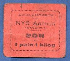 Boulangerie  -- Nys Arthur --  Bon Pour 1 Pain De 1 Kg - Bonds & Basic Needs