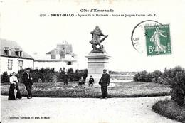 Saint Malo. La Statue De Jacques Cartier Au Square De La Hollande. - Saint Malo