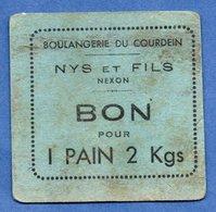 Boulangerie De Courdein  -- Nys Et Fils -- Nexon --  Bon Pour 1 Pain De 2 Kgs - Bonds & Basic Needs