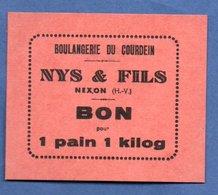Boulangerie Du Courdein -- Nys Et Fils à Nexon  --  Bon Pour 1 Pain De 1 Kg  --  état  Neuf - Bonds & Basic Needs