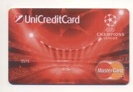 UKRAINE Credit Card Bankcard UKRSOTSBANK Bank MasterCard SPECIMEN SPORT Football Soccer UEFA Stadium - Geldkarten (Ablauf Min. 10 Jahre)