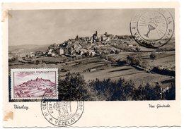 CARTE MAXIMUM FRANCE 1949 / 89 VEZELAY  = CACHET Illustré 8e CENTENAIRE / 2e CROISADE N° 759 - Cartes-Maximum