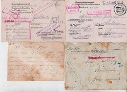 Ww2 Cartes Rares Stalag + 1 Cp-photo + 1 Lettre Avec Censure Allemande Gaillarde Bouleternère 66 A Lire A Voir Dos Scané - Weltkrieg 1939-45