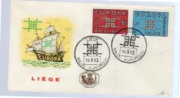 FDC Liège Europa 1963 Ship (380) - 1961-70