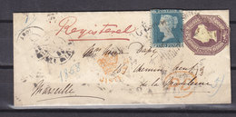 GREAT BRITAIN REGISTERED COVER- STAMPS 2nd CHOICE SCARCE - 1840-1901 (Victoria)