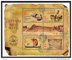 LITHUANIA 2002 Millenary Of Lithuania (II) Block MNH / **.  Michel Block 25 - Lithuania
