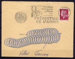 Am4126 Laon Aisne Secap 1975 Année De L'art Gothique En Picardie / Lettre 28/01/75 - Sellados Mecánicos (Publicitario)