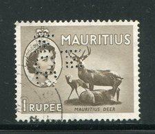 MAURICE- Y&T N°252- Oblitéré Et Perforé - Maurice (...-1967)