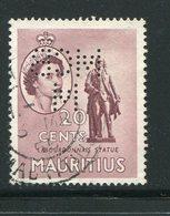 MAURICE- Y&T N°247- Oblitéré Et Perforé - Maurice (...-1967)