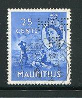 MAURICE- Y&T N°248- Oblitéré Et Perforé - Maurice (...-1967)