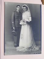 Soldaat / Soldier / Soldat Milicien HUWELIJK - MARIAGE ( Formaat +/- 16 X 11,5 Cm. - Foto ? ) ! - Oorlog, Militair