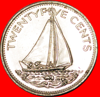 # GREAT BRITAIN: THE BAHAMAS ★ 25 CENTS 1979 SHIP MINT LUSTER! LOW START ★ NO RESERVE! - Bahamas