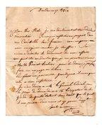 64 - NAVARRENX . LETTRE ADRESSÉE AU COLONEL DE ROBY . SEPTEMBRE 1813 - Réf. N°111F - - Manuscripts