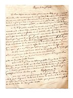 64 - BAYONNE . NAVARRENX . LETTRE ADRESSÉE À MONSIEUR LE CHEVALIER DE ROBY LE 20 NOVEMBRE 1815 - Réf. N°112F - - Manuscripts