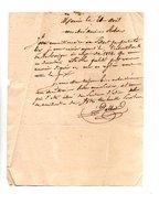 64 - NAVARRENX . LETTRE ADRESSÉE À MONSIEUR LE CHEVALIER DE ROBY  - Réf. N°113F - - Manuscrits