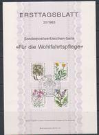 Germany 1983 Plants 4v Ersttagsblatt (F7166) - [7] West-Duitsland