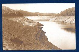 Le Lac Et Barrage De La Gileppe Durant La Sécheresse De 1921. Lot De 4 Cartes-photos. - Gileppe (Barrage)