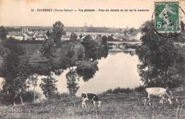 Faverney (70) - Vue Générale - Pont Du Chemin De Fer Sur La Lanterne 1912 - France
