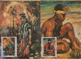 Nouvelle Caledonie - PA N°234-235 - Peintres Du Pacifique - Carte Maximum - Briefe U. Dokumente