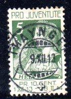 585 490 - SVIZZERA 1913 , Unificato Usato N. 137 Pro Juventute - Pro Juventute