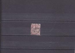 TYPE MOUCHON SURCHARGE/ 8 C SUR 20 C BRUN-LILAS / OBLITERE/ N°78 YVERT ET TELLIER 1907 - Chine (1894-1922)