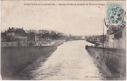 F85-007 FONTENAY LE COMTE - Quais Poëy D'Avant Et Victor Hugo - Fontenay Le Comte