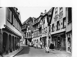 """1 CPSM Gd Modèle : Barr : Restaurant """"Au Pivert"""" : Rue Avec Autos, Vespa, Animation - Barr"""