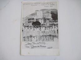 Document Photo En Souvenir Des Festivités Du Bapteme De La Princesse Caroline De MONACO Février 1957  B.E - Vieux Papiers