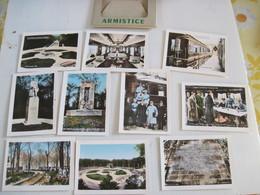 Militaria 10 Petites Cartes Photos ARMISTICE Foret De COMPIEGNE édition Exclusive De L'Armistice  B.E - Maps
