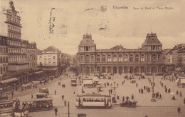 Brussel, Bruxelles, Gare Du Nord Et Place Rogier, Tram, Tramway (pk46904) - Spoorwegen, Stations