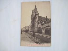 CPA 80 MONTDIDIER En 1914- Eglise St Sépulcre Et Maison Ou Est Né Parmentier Animée  1922 T.B.E - Montdidier