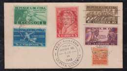 Kuba Cuba 1943 Cover QUINTA COLUMNA - Cuba