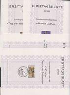 Germany 1983 4 Ersttagsblatter  21/1983 - 24/1983 (F7173) - [7] West-Duitsland